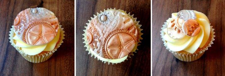 steampunk bike cogs cupcakes